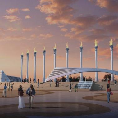内蒙古少数民族群众文化体育运动中心西侧广场入口.png