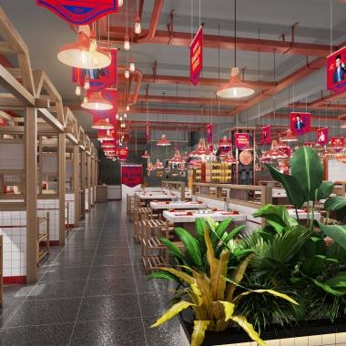 餐饮品牌空间设计 贤合庄卤味火锅