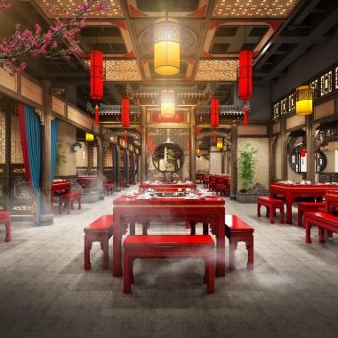 餐饮品牌空间设计 皇三爷空间设计