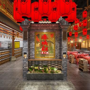 餐饮品牌空间设计 谭鸭血火锅