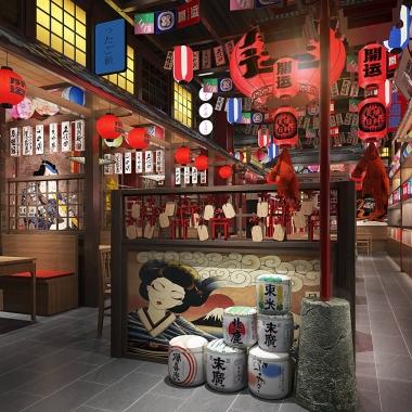 餐飲品牌空間設計  開運日料店設計