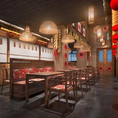 餐飲品牌空間設計 家鄉雪東北菜