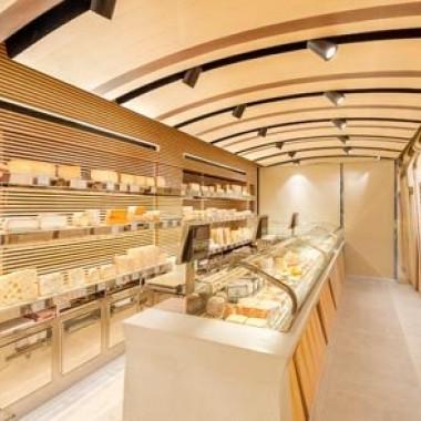 巴黎Alleosse面包店室内空间设计