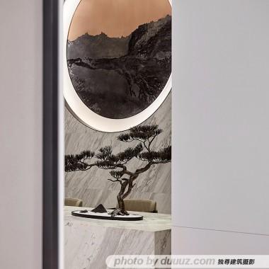 独尊建筑摄影:中式美学保利天府林语售楼处