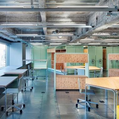 日本工业风音乐办公室总部设计:Schemata Architects6543.jpg